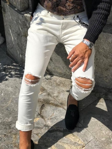 Jeans bianchi online - Jeans uomo - Gogolfun.it