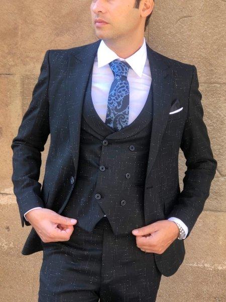 Abito uomo nero - Vestito uomo elegante - Abito elegante nero - Gogolfun.it