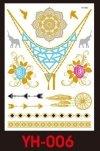 Tatuaże metalic złote srebrne FLASH TATTO YH-089