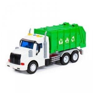 WADER 86495 Śmieciarka kontener na odpady + efekty dźwiękowe i świetlne
