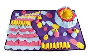 Zabawka dla psa kota edukacyjna mata węchowa spowalniająca jedzenie