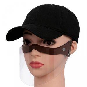 Półprzyłbica maska mini przyłbica na twarz brązowa PREMIUM