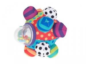 Zabawka sensoryczna miękka piłka grzechotka gryzak wypustki