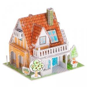 Puzzle 3D kolorowanka domek 29el.