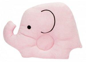 Poduszka dla niemowląt słoń 18,5cm x 25cm różowa