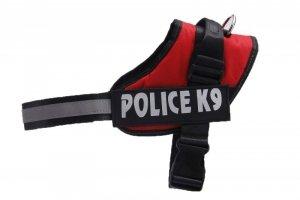 Szelki dla psa mocne M 55-66cm Police K9 czerwone