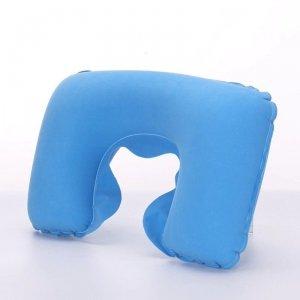 Poduszka podróżna turystyczna nadmuchiwana błękitn