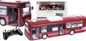 Autobus Zdalnie Sterowany RC z drzwiami czerwony