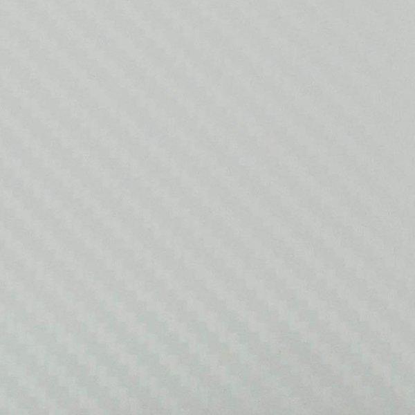 Folia odcinek carbon 3D biała 1,27x0,1m