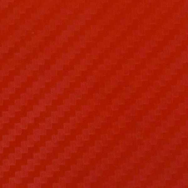 Folia odcinek carbon 3D czerwona 1,27x0,1m