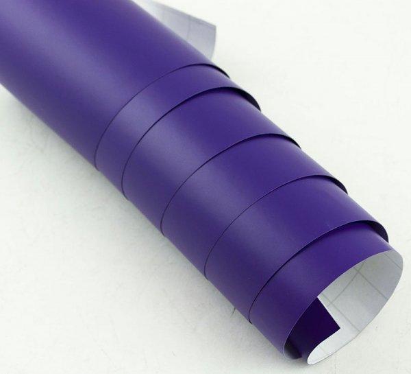 Folia odcinek matowa gładka fiolet 1,52x0,1m