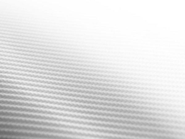 Folia odcinek carbon 4D biała 1,52x0,1m