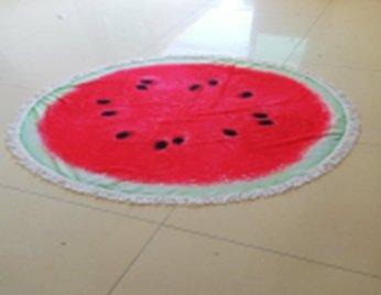 Ręcznik plażowy okrągły duży pled boho arbuz