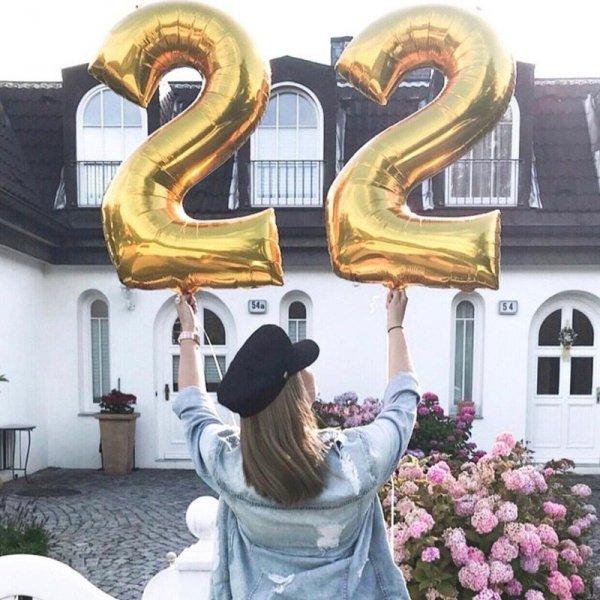 Balon urodzinowy na hel cyfry -8- 40cm