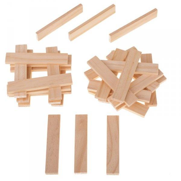 Klocki drewniane w wiaderku montessori 100el