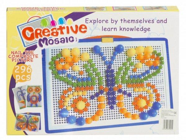 Puzzle pinezki grzybki 296szt