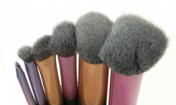 Pędzle do makijażu zestaw metalic 6 sztuk
