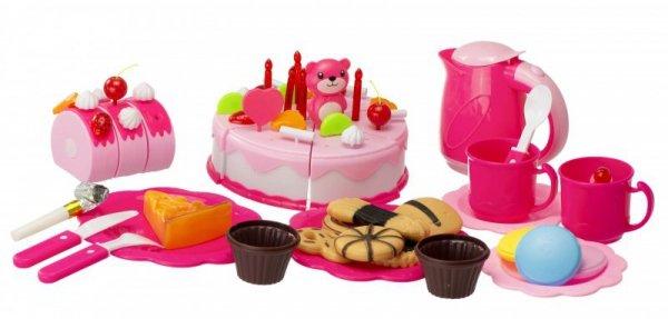 Tort Urodzinowy do Krojenia Kuchnia 80 el. róż
