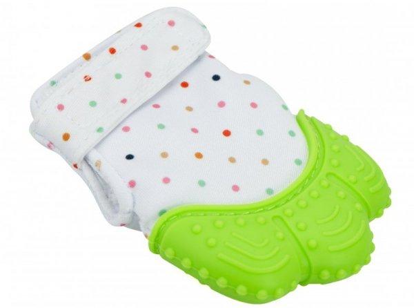 Rękawiczka silikonowa na rzep gryzak dla dzieci