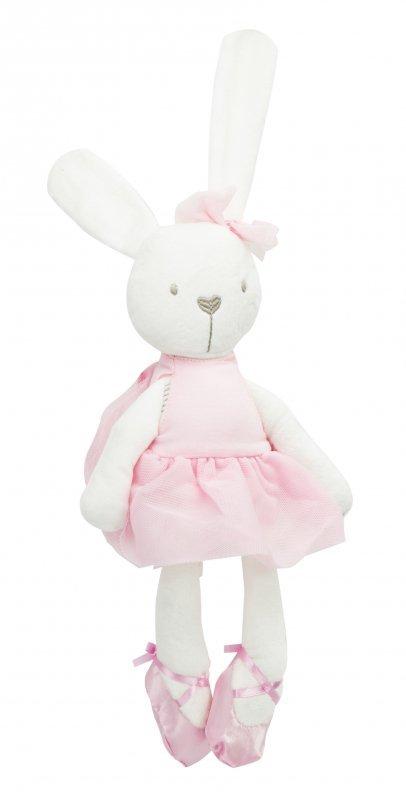 Maskotka pluszowa królik w różowej sukience 42cm