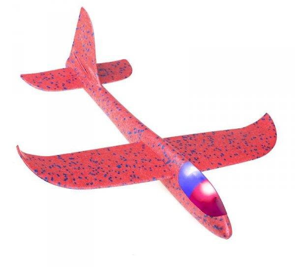 Szybowiec Samolot styropianowy 2LED MIX 48x47cm