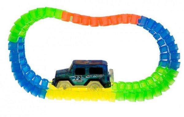 Tor samochodowy świecący Magic Car 128 elementów tunel