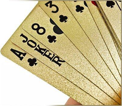 Karty do gry plastikowe złote - $$$ dolar