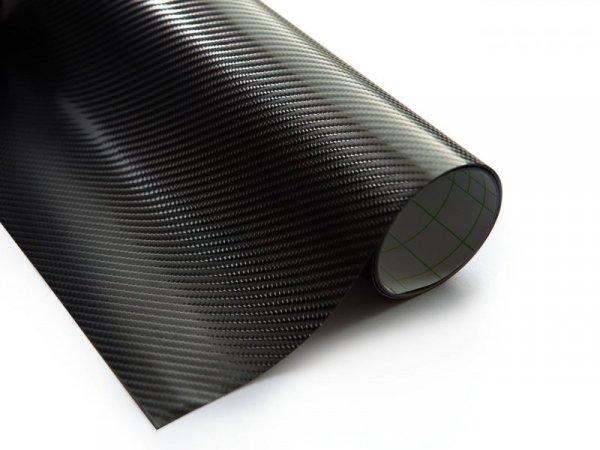 Folia rolka carbon 4D czarna 1,52x30m