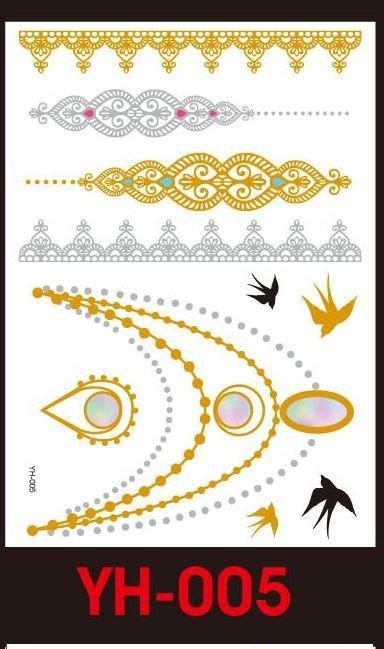 Tatuaże metalic złote srebrne FLASH TATTO YH-017