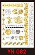 Tatuaże metalic złote srebrne FLASH TATTO YH-054