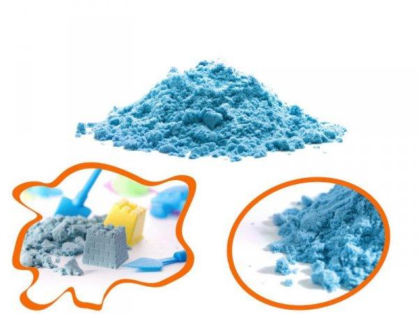 Piasek kinetyczny 1kg w woreczku niebieski