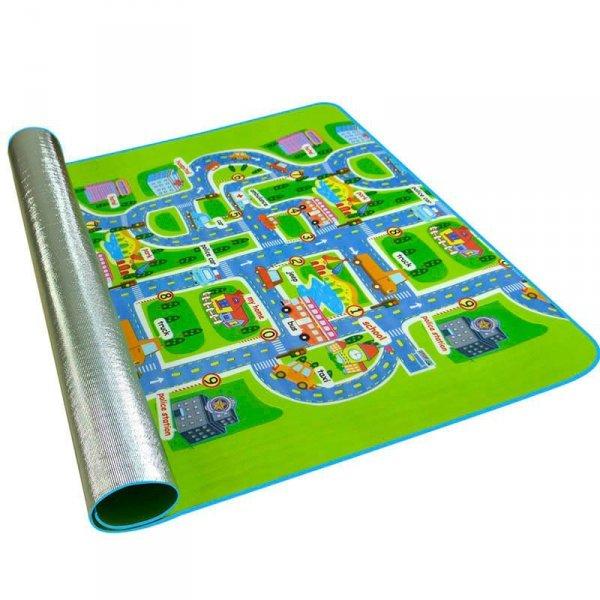 Mata Edukacyjna piankowa dla dzieci ulica 160x130cm