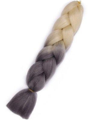Włosy syntetyczne tęczowe ombre granat-niebieski