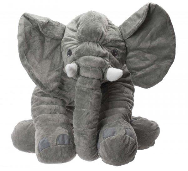 Maskotka pluszowa słoń szary