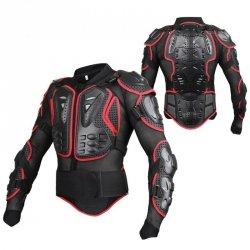 Zbroja motocyklowa - protektor czarno-czerwony