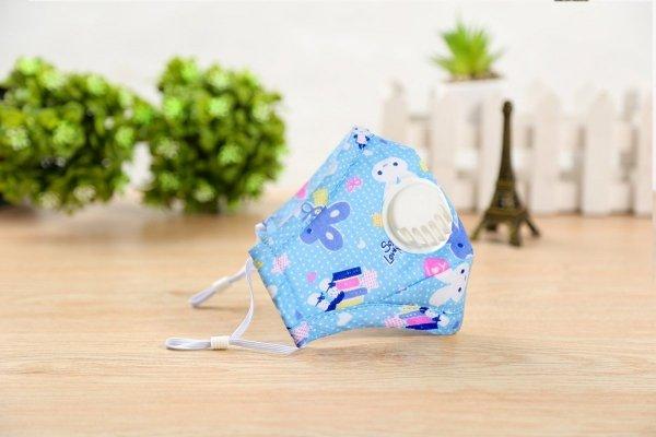 Maseczka antysmogowa dla dziecka 'niebieski króliczek' 0-3 plus dwa filtry PM 2.5