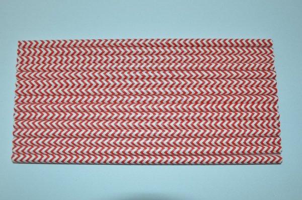ekologiczne papierowe słomki chervon wzór