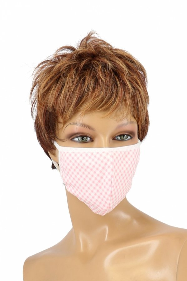 maska ochronna z filtrem różowa