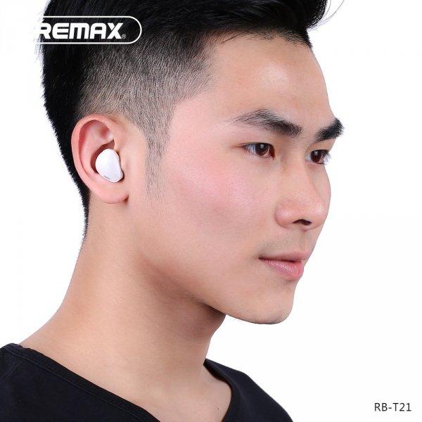 biale słuchawki Bluetooth