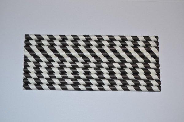 słomki ekologiczne czarno-białe