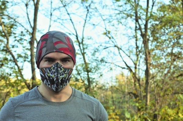 Maska do biegania dla dorosłych STYLE 'owl' + filtr PM 2,5