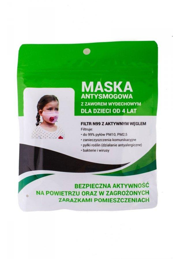 maska antysmogowa dziecięca