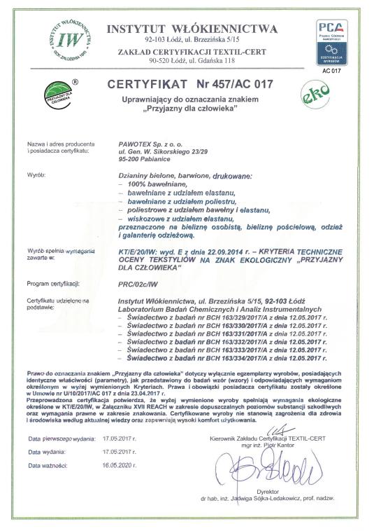 certyfikat alexpo