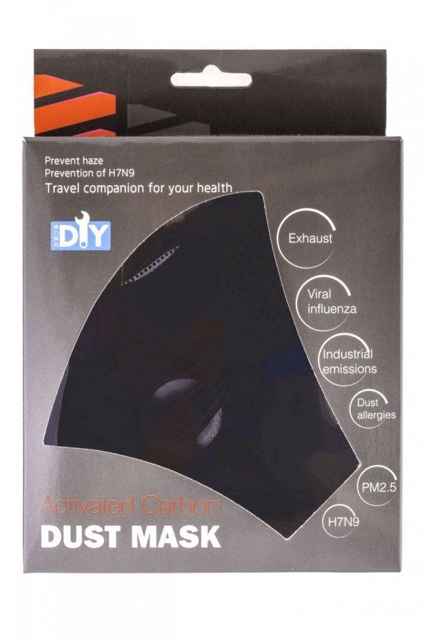 Maska rowerowa siatkowa ACTIVE czarna z filtrem L/XL