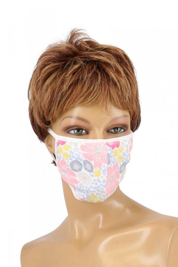 maska ochronna z filtrem kwiaty