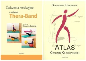 Atlas ćwiczeń korekcyjnych + Ćwiczenia korekcyjne z przyborami Thera Band