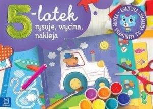 5 latek rysuje wycina i nakleja Książeczka edukacyjna dla kreatywnego dziecka