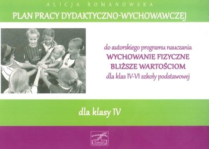 Plan pracy dydaktyczno wychowawczej dla klasy IV część 1