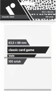 Koszulki na karty Rebel (63,5x88 mm) Classic Card Game, 100 sztuk, Białe