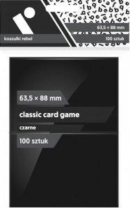 Koszulki na karty Rebel (63,5x88 mm) Classic Card Game, 100 sztuk, Czarne